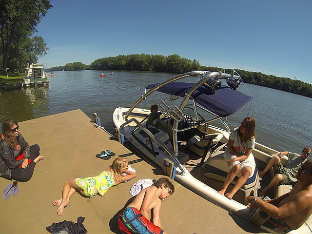 Airborne Tower wakeboard tower installed on 1998 Correct Craft Sport Nautique boat