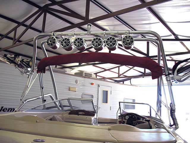 Airborne Tower wakeboard tower installed on 2004 Larson LXI210 boat