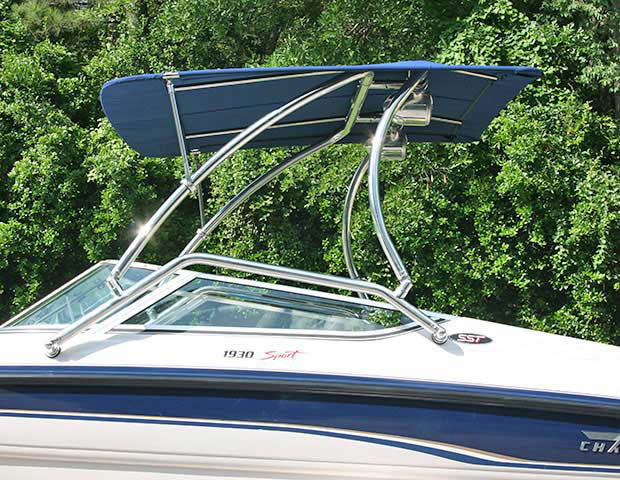Airborne Tower wakeboard tower installed on 1994 Chaparral 1930 SST boat