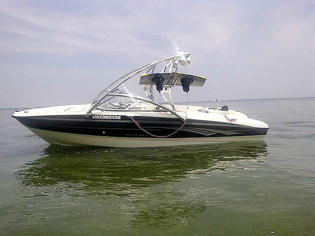 Wakeboard Tower for 2008  Bayliner 185 installed on 08/01/2011