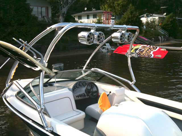Airborne Tower wakeboard tower installed on Mastercraft prostar 190 boat