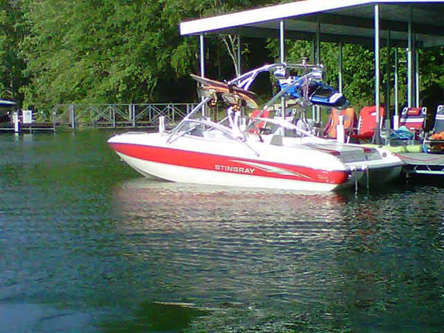 Wakeboard Tower for 2004 Stingray 190LX installed on 07/26/2011