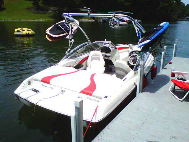 Assault Tower wakeboard tower installed on 2004 Stingray 190LX boat