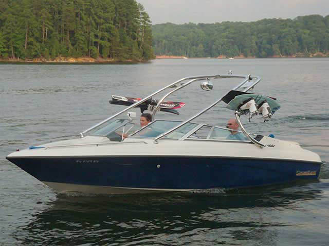Wakeboard Tower for 1992 Crownline BR196 installed on 08/31/2011