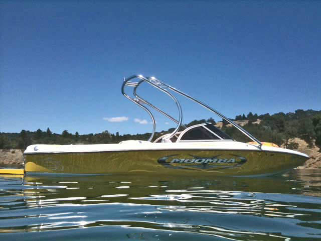 K2 Tower wakeboard tower installed on 2005 Moomba Outback boat