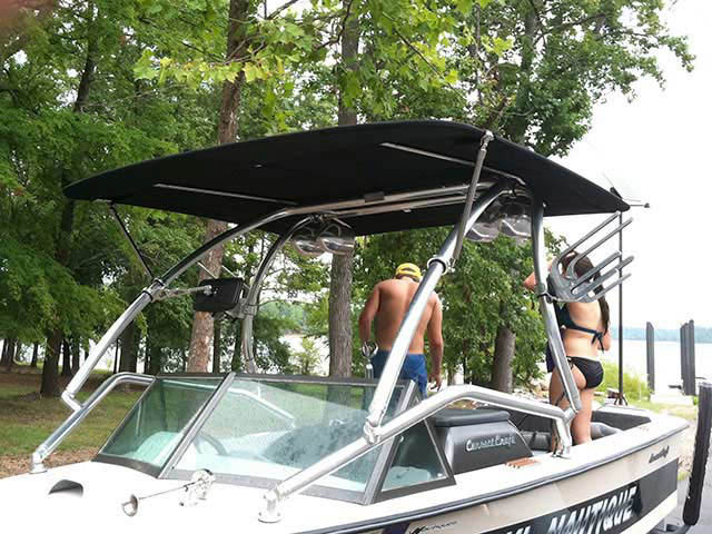 Wakeboard Tower for 1974 Ski Nautique installed on 09/14/2011