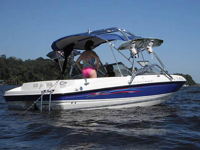 Airborne Tower wakeboard tower installed on 2006 Bayliner 195 BR boat