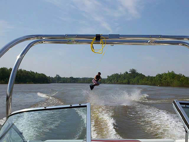 Airborne Tower wakeboard tower installed on 1993 Chapparal SL200 boat