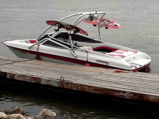 Wakeboard Tower for 1994 Rinker 180 installed on 06/20/2012