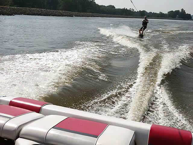 Airborne Tower wakeboard tower installed on 1994 Rinker 180 boat