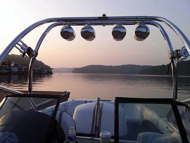Airborne Tower wakeboard tower installed on 1998 Malibu Sportster LXI boat