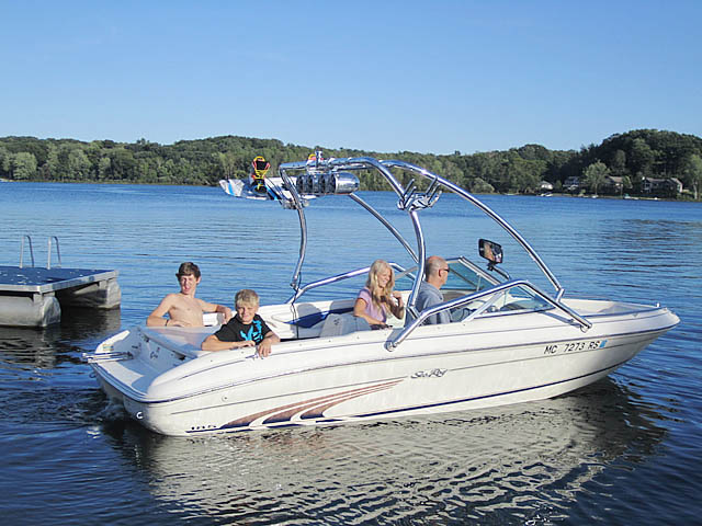 Wakeboard Tower for 1997 Sea Ray 185 Bow Rider installed on 05/14/2012