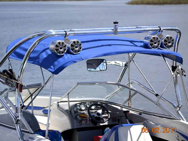 Airborne Tower wakeboard tower installed on 2007 Bayliner boat