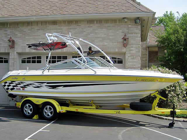 Wakeboard Tower for 1990 Searay 190 installed on 06/25/2012