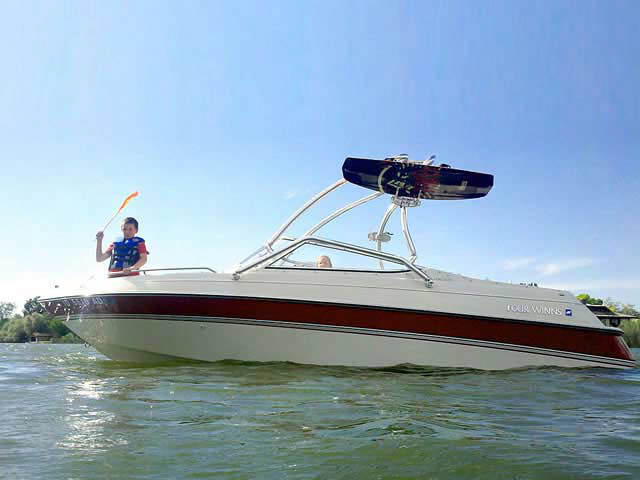 Wakeboard Tower for 1995 Four Winns Horizon 200 installed on 06/02/2012