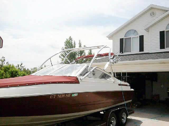 Wakeboard Tower for 1994 Maxum 2300sr installed on 06/03/2012
