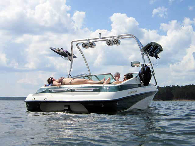 Airborne Tower wakeboard tower installed on 1997 Crownline 202BR boat