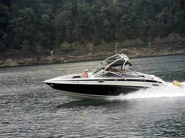 Airborne Tower wakeboard tower installed on 2005 Crownline 270br boat
