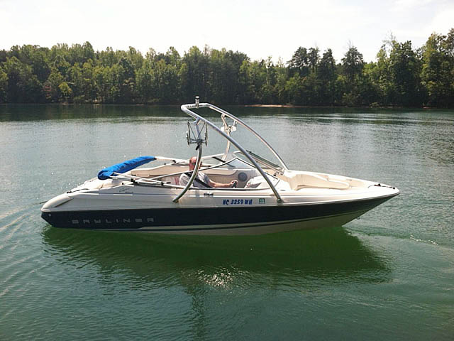 Wakeboard Tower for 1994 Bayliner 1850 installed on 08/07/2012