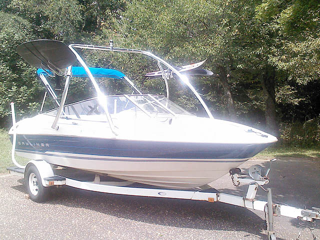 Ascent Tower wakeboard tower installed on 1994 Bayliner 1850 boat