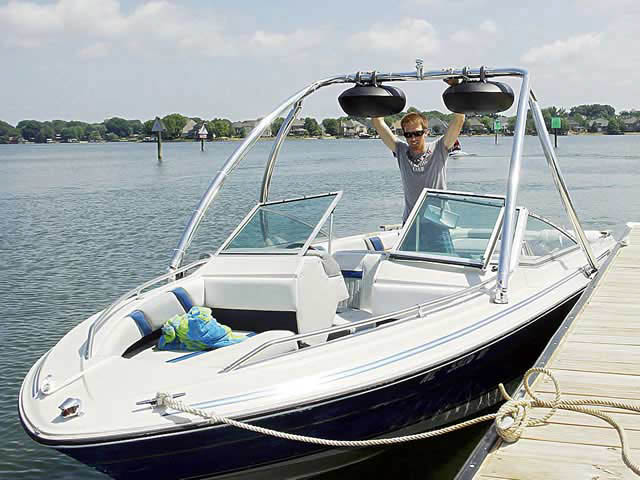 Wakeboard Tower for 1986 Sea Ray Seville installed on 08/07/2012