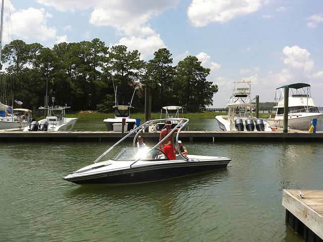 K2 Tower wakeboard tower installed on 92 Supra Comp ts6m boat