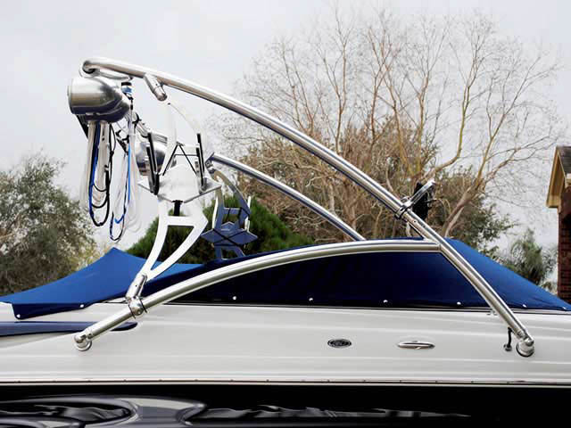 Assault Tower wakeboard tower installed on 2005 Crownline 225 GLS boat