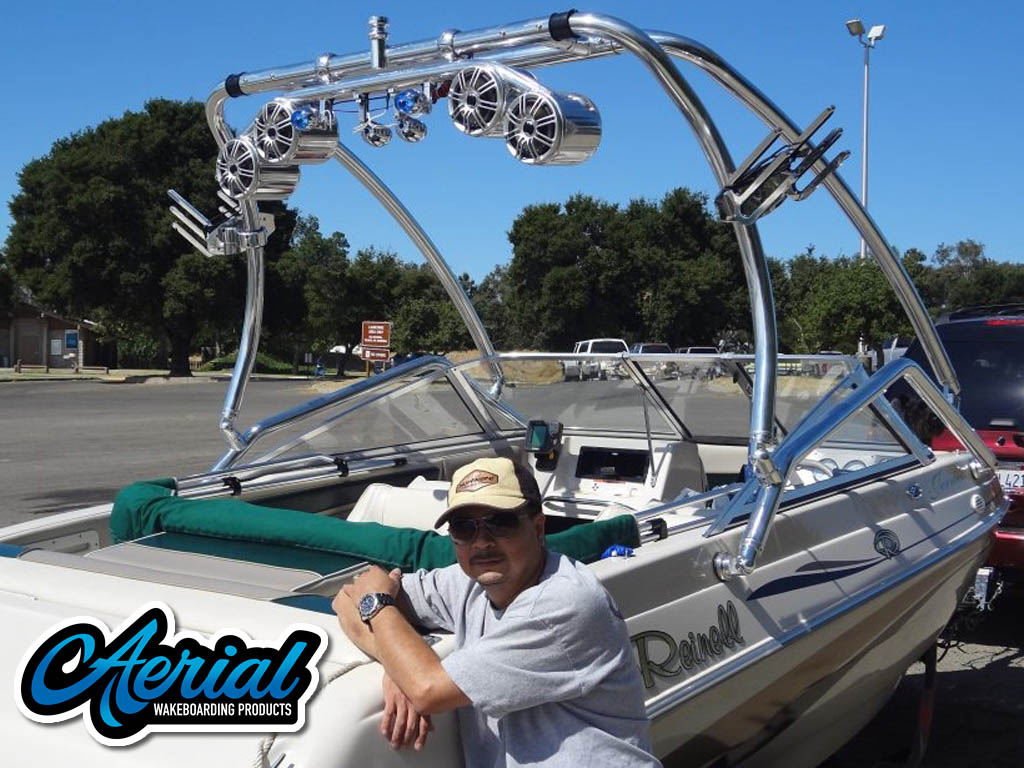 Wakeboard Tower for 1997 Reinell installed on 08/12/2012