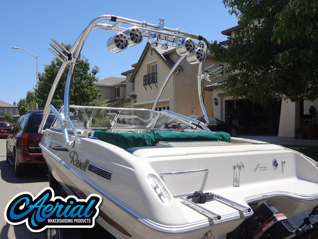 Airborne Tower wakeboard tower installed on 1997 Reinell boat