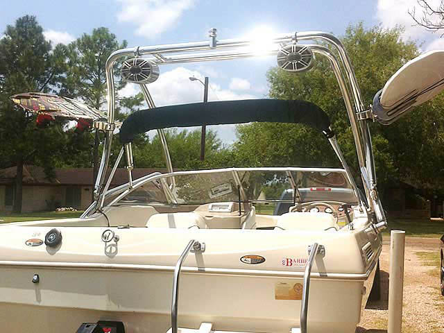 Airborne Tower wakeboard tower installed on 2000 Bayliner Capri 1950 boat