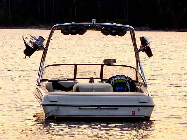 K2 Tower wakeboard tower installed on 1999 Tige 2200i boat