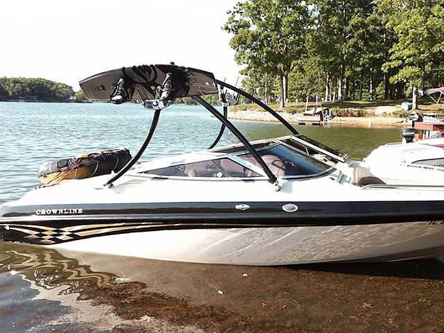 Wakeboard Tower for 2000 Crownline 202 installed on 08/20/2012