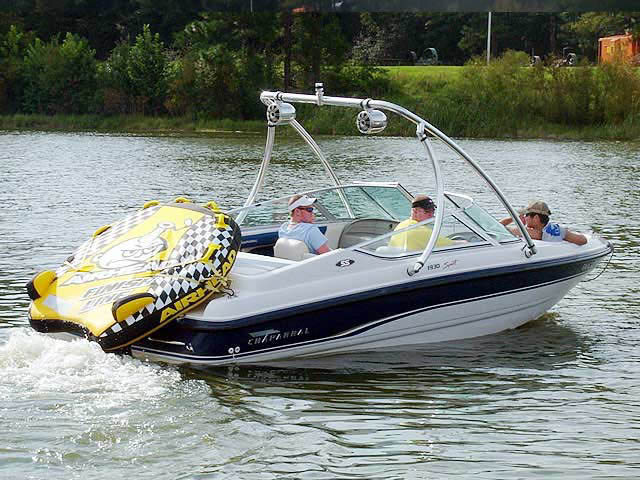 Wakeboard Tower for 1995 Chaparral 1930 SS installed on 09/03/2012