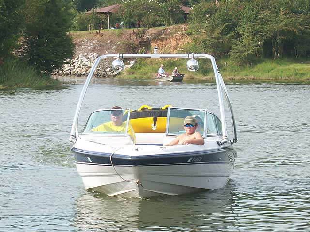 Ascent Tower wakeboard tower installed on 1995 Chaparral 1930 SS boat