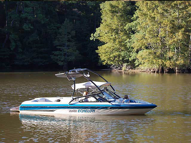 Airborne Tower wakeboard tower installed on 1995 Malibu Echelon boat