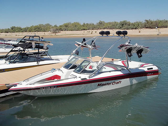Airborne Tower wakeboard tower installed on 1992 Mastercraft Maristar boat