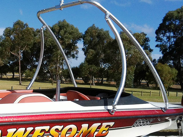 Ascent Tower wakeboard tower installed on 1998 Ski Craft 2000 boat