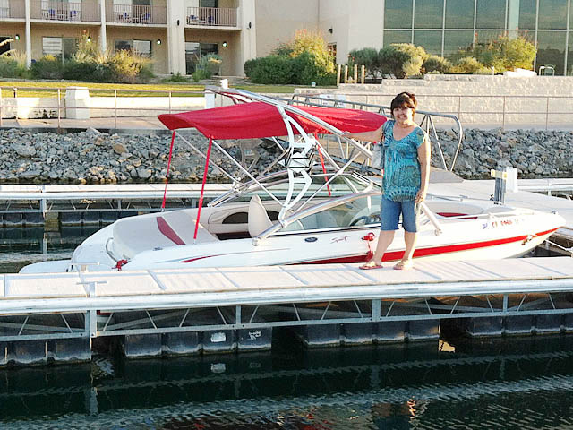 Assault Tower wakeboard tower installed on 2005 Chaparral  boat