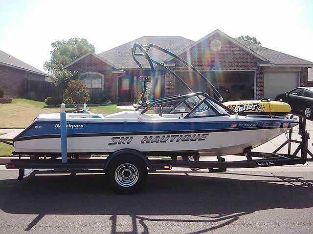 Airborne Tower wakeboard tower installed on 1994 Correct Craft Ski Nautique boat