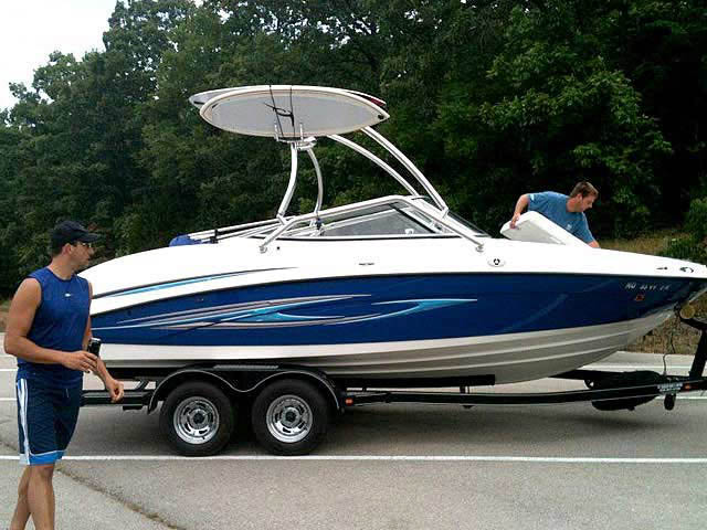 Airborne Tower wakeboard tower installed on 2008 Yamaha SX210 boat