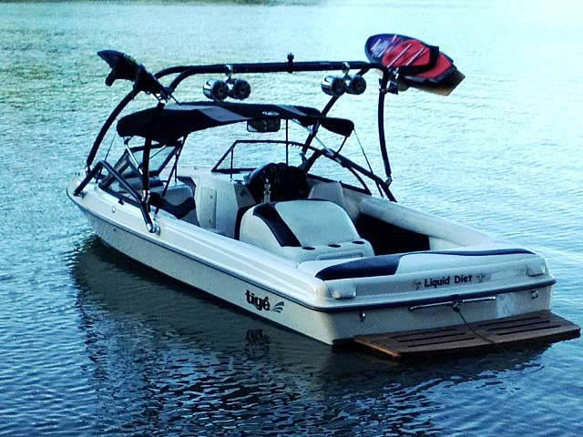Airborne Tower wakeboard tower installed on 1998 Tige pre2200i boat