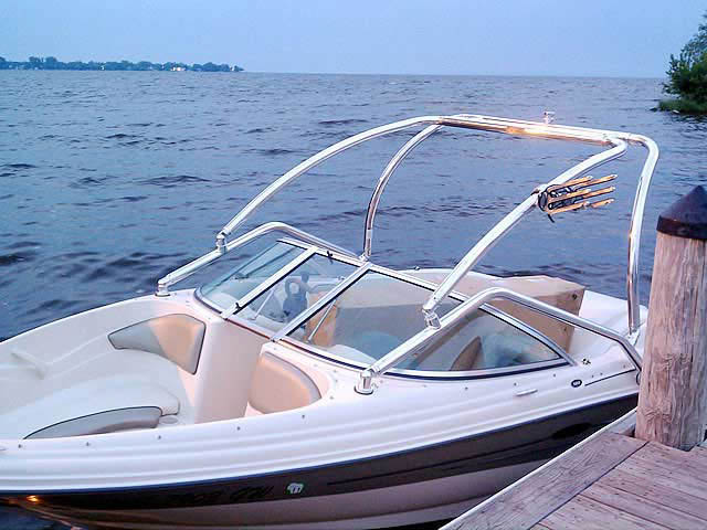 Airborne Tower wakeboard tower installed on 2005 Sea Ray 180  boat