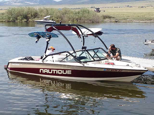 Airborne Tower wakeboard tower installed on 1997 Sport Nautique boat