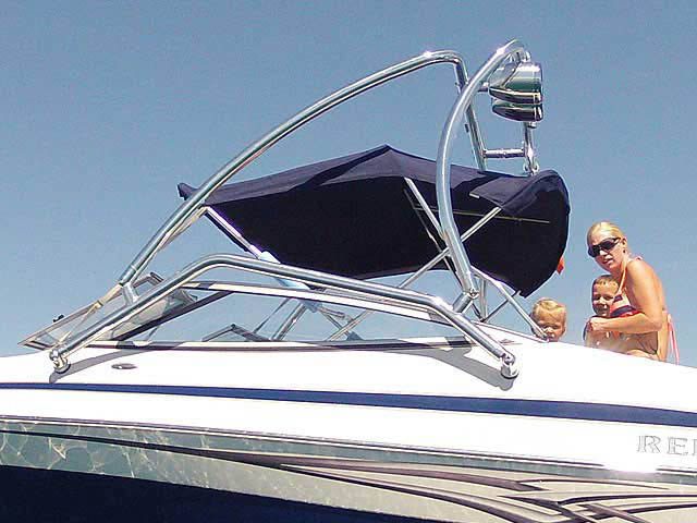 Airborne Tower wakeboard tower installed on 2008 Reinell 200LSE boat