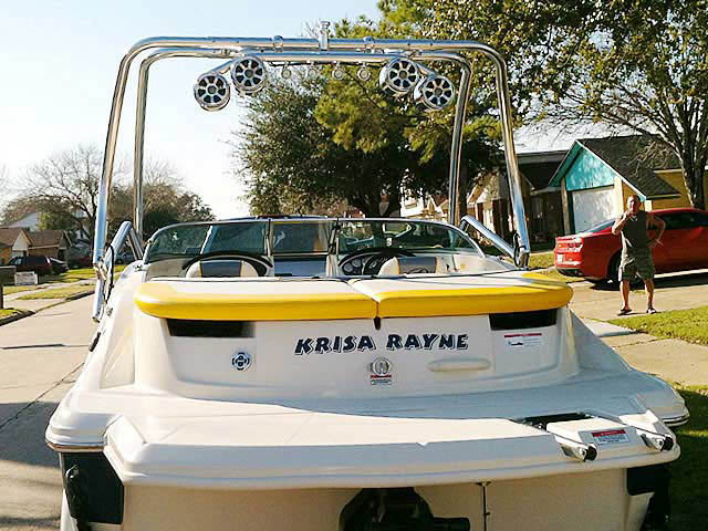 Airborne Tower wakeboard tower installed on 2007 Sea Ray 185 Sport boat