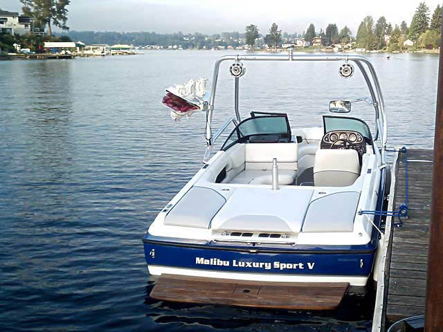 Wakeboard Tower for 2001 Malibu Sunsetter VLX installed on 08/02/2013