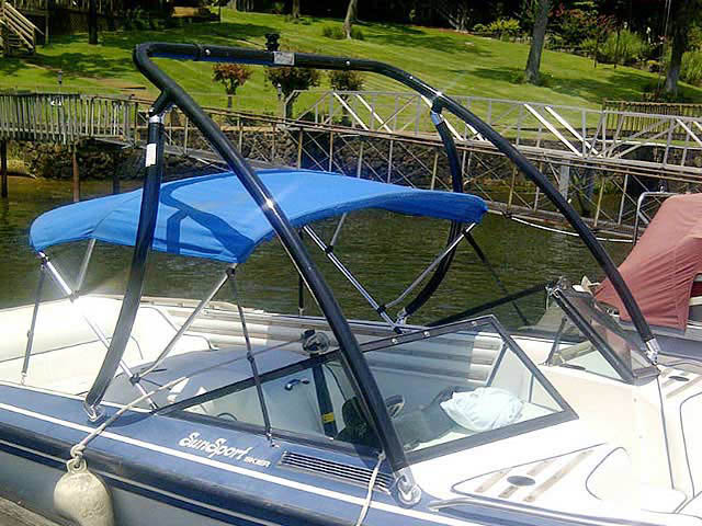 Ascent Tower wakeboard tower installed on 1986 Supra Sunsport boat