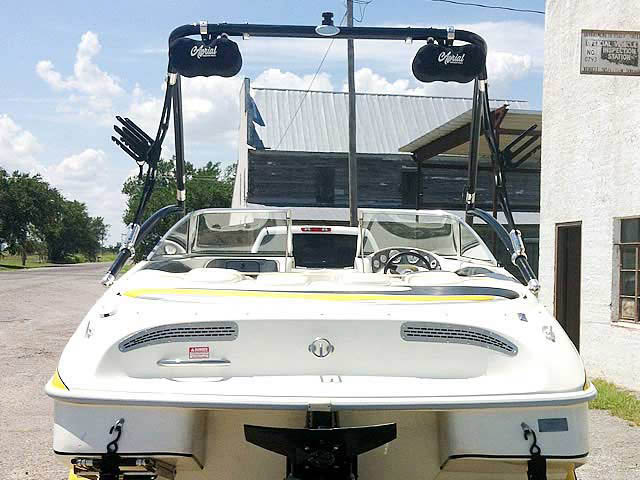 Assault Tower wakeboard tower installed on 2002 VIP Valiant 1996  boat