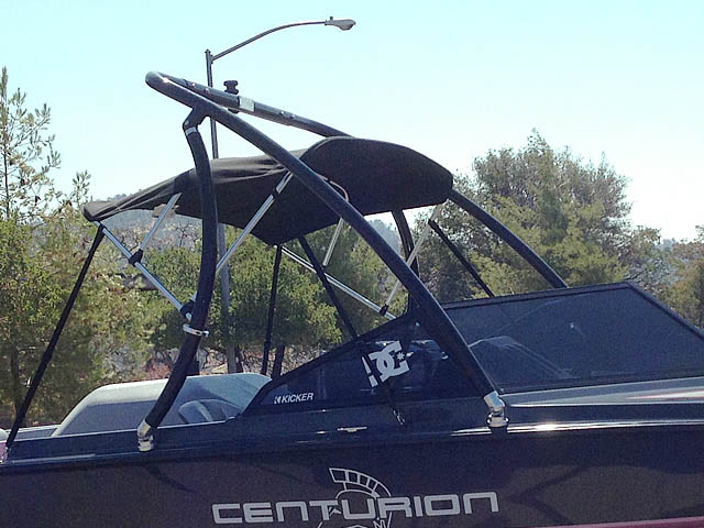 Ascent Tower wakeboard tower installed on 1992 Ski Centurion Falcon XP boat