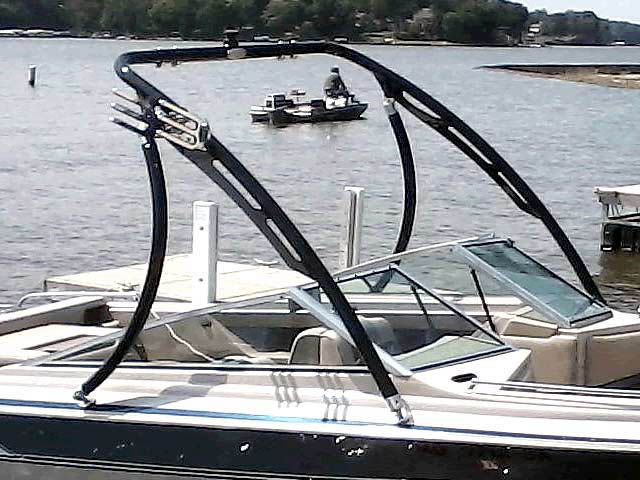 Ascent Tower wakeboard tower installed on 86 Larson 17.5 Citation boat